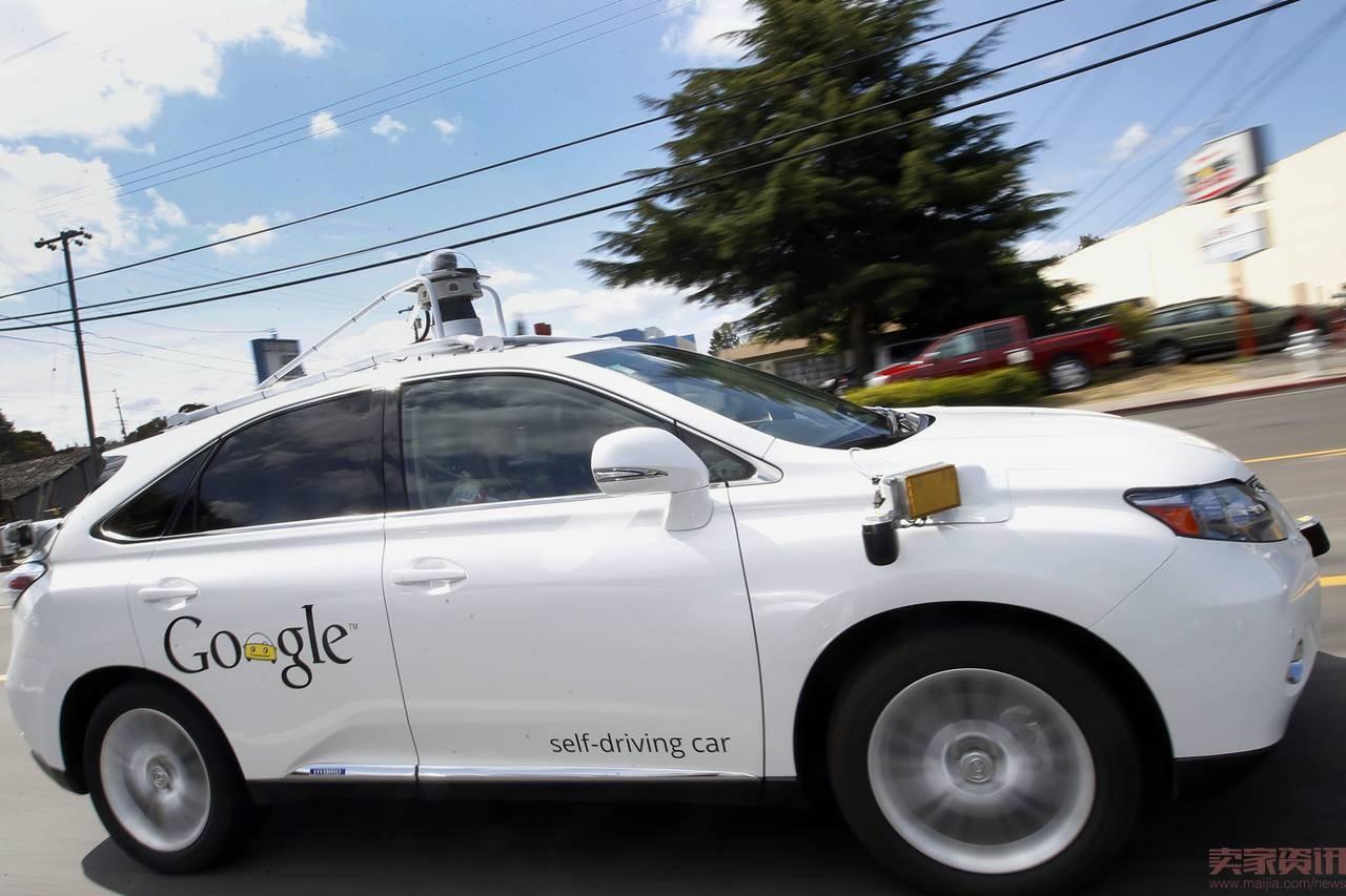 谷歌无人驾驶汽车 遭遇严重车祸高清图片