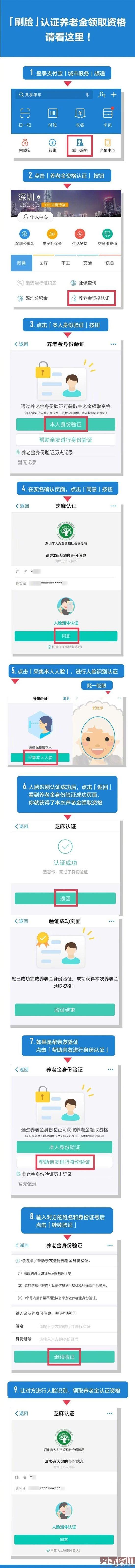 支付宝刷脸新功能:认证养老金领取资格