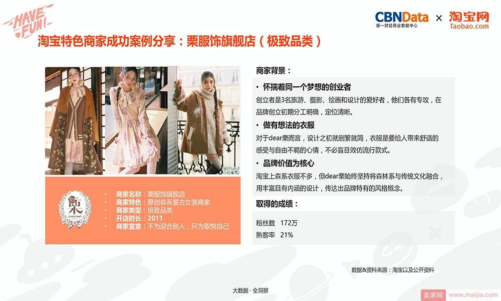 淘宝特色商家成功案例分享:栗服饰旗舰店(极致品类)