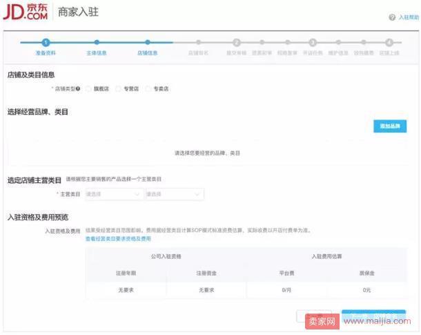 京东拼购企业店铺入驻操作流程详解!